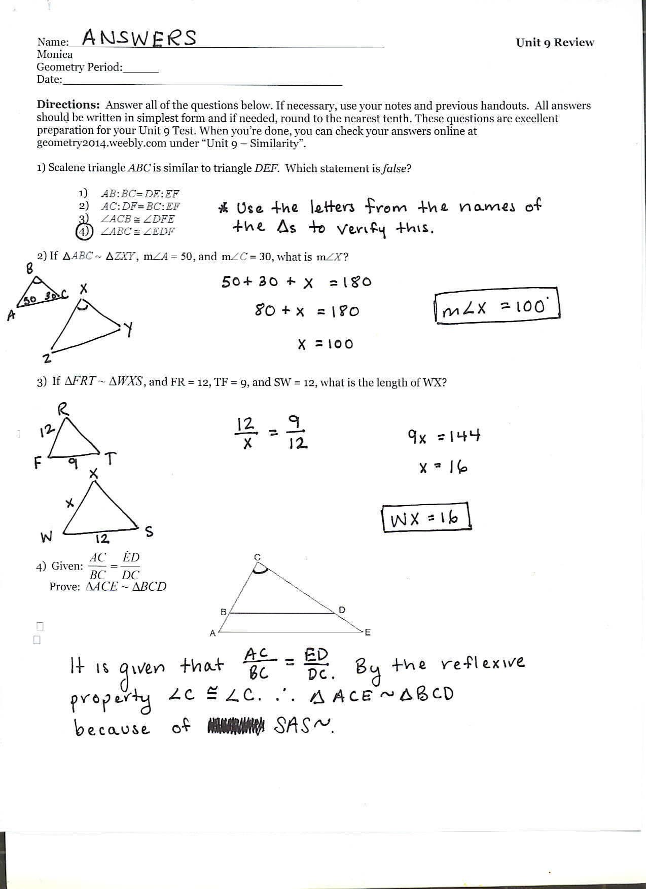 Bisectors of Angles Worksheets Angle Bisector Theorem How